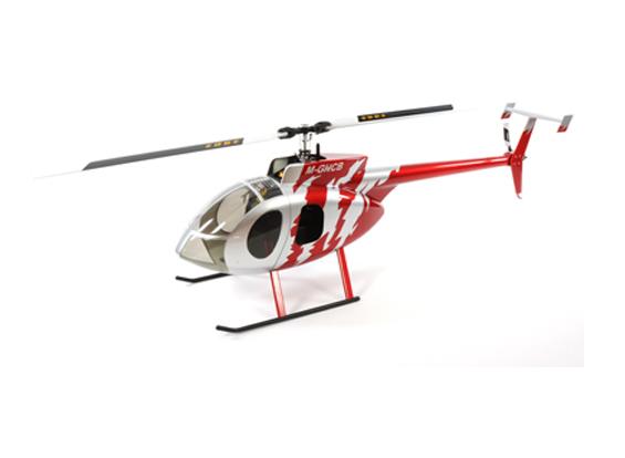 Hughes 500 Scale Body (rojo)